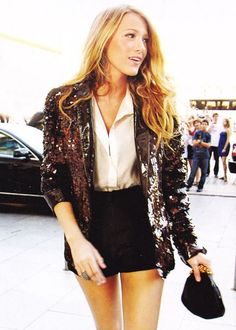 love the sequin blazer! Blake Livley
