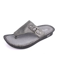 36b6199b2c1e Look at this Pewter Easy Vanessa Leather Sandal on  zulily today! Alegria  Shoes