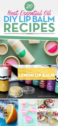 Essential Oils and Lip balm are a great mix. It is very easy to make your own lip balm mixed with some essential oils. You can make it as crazy and spicy as you want or you can go for an easy going mix. Here I have listed 20 of the best easy to make … Homemade Lip Balm, Diy Lip Balm, Face Scrub Homemade, Homemade Skin Care, Homemade Gifts, Homemade Moisturizer, Homemade Products, Homemade Beauty, Diy Gifts