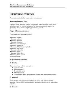 Marvelous Underwriting Assistant Resume Objective   Http://www.resumecareer.info/ Underwriting