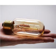CTKcom 25 Watt Vintage Antique Light Bulbs Pack)- Antique Dimmable Incandescent Bulb Spiral Tungsten Equivalent Warm Yellow Lamps for Home Light Fixtures Decorative Antique Light Bulbs, Antique Lighting, Amber Glass, Incandescent Bulbs, Light Fixtures, Yellow Lamps, Vintage Antiques, Dimmable, Fashion Decor