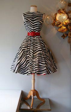 50s Dress // Vintage 1950s Anne Fogerty Zebra by xtabayvintage, $298.00