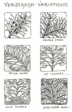 verdigogh variations by Maria Thomas, Zentangle Founder