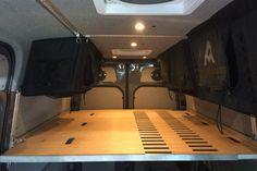 Modular camper kit turns the Sprinter into a DIY adventure van for nomadic thrill-seekers Van Conversion Kits, Van Conversion Interior, Sprinter Van Conversion, Camper Van Conversion Diy, Vw Camping, Retro Camping, Camping Store, Camping Trailers, Sprinter Camper