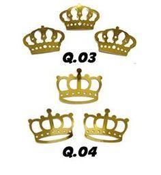 100 coroa princesa toppers tag scrapbook apliques