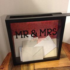 I want one of these!!!! WEDDING CARDS Box, 12x12, Shadow Box, THEN use for an Admit One Box to keep your ticket stubs in, Mr and Mrs, wedding gift, wedding decor