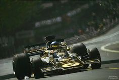 Montjuïc Park - 1973 Spanish Grand Prix, Ronnie Peterson (SWE) on Lotus 72E - Ford V8 for John Player Special Team Lotus.