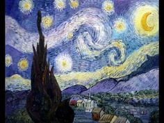 The Starry Night - Vincent van Gogh (@ mental ward after stay at Arles)