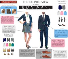The job interview is your runway. Dress the part that is most like the organization you are interviewing with not just your personal taste.