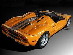 Orange Ford GT