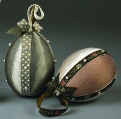 Elegant Fabric Egg Ornaments