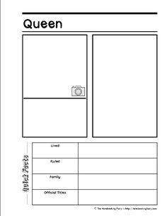 queen-notebooking page- Notebooking Fairy