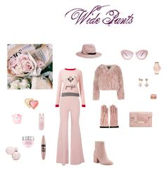 """""""Wide Pants"""" by rossperdicita ❤ liked on Polyvore featuring Emilia Wickstead, Miss Selfridge, Sam Edelman, Eugenia Kim, Gucci, Miu Miu, Michael Kors, Adolfo Courrier, Too Faced Cosmetics and claire's"""