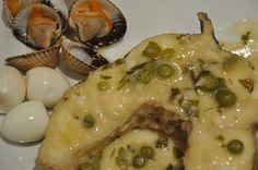 #Receta tradicional del congrio en salsa verde :)_  #recipe