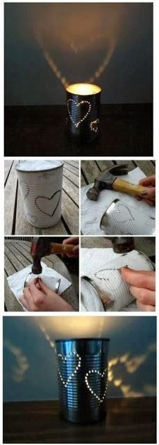 DIY outdoor lantern. Add string to hang on a patio, pergola, or fence.