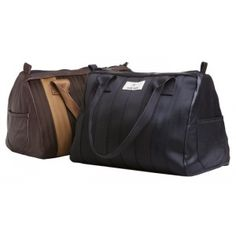 The Ralli handbag is made of recycled seatbelts and old leather by Globe Hope.