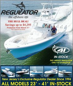 Fish in NJ contact me for details on the Regulator 41 @njboatguy #regulatormarine #comstockyachtsales #boats #fishing #offshorelife #saltlife #inletville #gpotd #fishingdaily #saltwatersportsman #biggamefishing #saltwater #41 #acboatshow by njboatguy