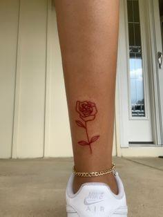 Red Ink Tattoos, Mini Tattoos, Foot Tattoos, Finger Tattoos, Male Leg Tattoos, Leg Tattoos Small, Pretty Hand Tattoos, Dainty Tattoos, Girly Tattoos