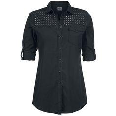 "Black Premium by EMP Langarmhemd, Frauen ""Studded Shirt"" schwarz • EMP"
