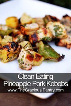 Clean Eating Pineapple Pork Kebobs