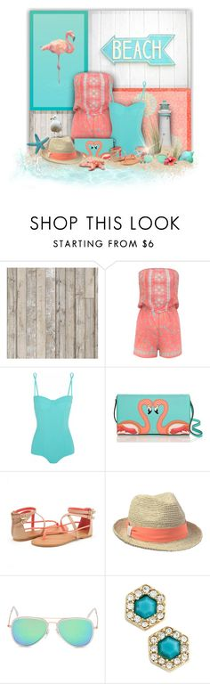 """Swimsuit Time!"" by laurenjane47 ❤ liked on Polyvore featuring NLXL, Shabby Chic, Lipsy, Dolce&Gabbana, Kate Spade, Hat Attack and Rebecca Minkoff"