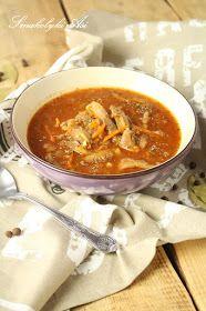 Smakołyki Asi: Flaczki z boczniaków Thai Red Curry, Chili, Ethnic Recipes, Food, Meal, Chile, Essen, Chilis, Hoods