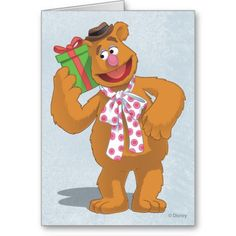 Holiday Fozzie the Bear Greeting Cards
