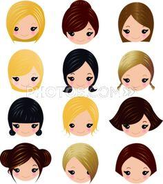 Faces, hair.