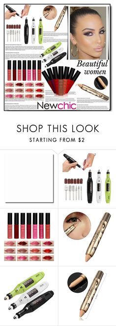 """Newchic,Beauty set 27."" by nudzi-ded ❤ liked on Polyvore featuring beauty"