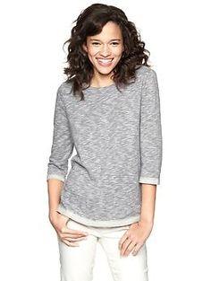 Half-sleeve sweatshirt   Gap (perfect for fall layering!)  $39.95