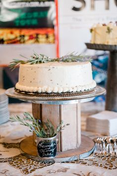 Lavender and honey cake
