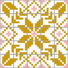 Fair Isle quilt mosaic by JenniferLGB, Would be nice in solids. Cross Stitching, Cross Stitch Embroidery, Cross Stitch Patterns, Quilt Patterns, Loom Knitting Patterns, Knitting Charts, Sock Knitting, Knitting Tutorials, Vintage Knitting