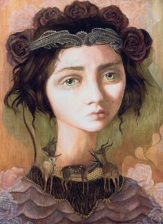 'Viola' by Nom Kinnear King! Original Oil on Board! #Lowbrow #Awesome!!!!!!