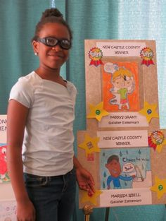 Gallaher Elementary School students Parrys Grant and Marissa Isbell both won the Delaware State Dental Society Poster Contest for New Castle County |   #GallaherES #ChristinaSchoolDistrict #CSDPride #studentartists #postercontest