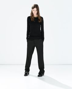 Image 1 of SWEATER WITH CHAIN NECKLINE from Zara