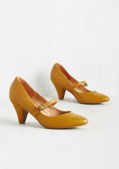Reserved for Rollicking Mary Jane Heel in Dijon in 36, #ModCloth