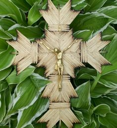 This cross is made with approximately 300 individually burned kitchen match sticks. It is 14 inches long and 11 inches wide. It is great for family