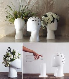 For floral arrangements or indoor plants ~ vase Designed by Tania da Cruz Ceramic Pottery, Ceramic Art, Pottery Vase, Keramik Design, Vases Decor, Vase Decorations, Christmas Centerpieces, Clay Art, Indoor Plants