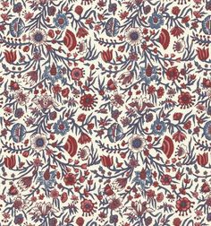 Genuine Dutch chintz fabric. Collection Dutch fabric- design Willem Rudolf den Haan. Printed by Den Haan and Wagenmakers in the Netherlands using patterns from the 17th and 18th centuries. It has a light polished or glazed finish. Beautiful to use for hand applique or quilting, but also great for making bags, soft furnishings such as cushion covers and curtains and clothing. Great motifs for broderie perse. This listing is for one fat quarter = 18 inches x 22 inches. Premium 1...
