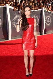 Cher Lloyd Leather Dress
