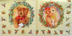 2062 Servilleta decorada Navidad