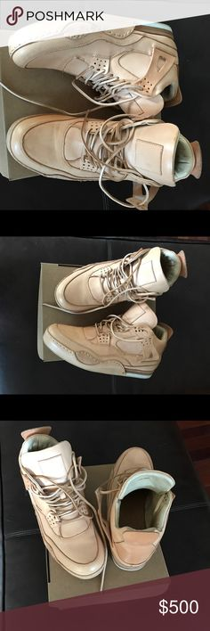 Auth Heyday Jordan 4-calf skin custom made sneaker Used twice. Great condition not in original box. Customer made calf skin Jordan 4 custom made - size 12 Heyday Jordan Shoes Sneakers