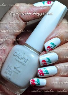 Esmalte Blant french blanch com nail art