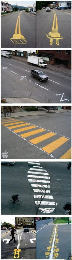 creative and interesting traffic lines #urban #adventures #urbanadventures