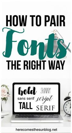 Learn how to pair fonts together to create stunning designs! Inkscape Tutorials, Cricut Tutorials, Cricut Ideas, Cricut Fonts, Cricut Vinyl, Cricut Banner, Cricut Air, Fonts Combinations, Font Combos