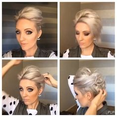 #shorthairtutorialmonday I have @kenraprofessional dry texture spray…