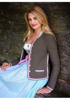 Lana Grossa DIRNDLJACKE Linarte Diana Fashion, German Women, Knitting Supplies, Wool Sweaters, Knit Cardigan, Knit Crochet, Knitting Patterns, Womens Fashion, Clothes