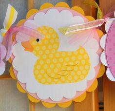 Baby Shower Banner  Rubber Ducky  Baby Girl by OneFantasticParty, $20.00