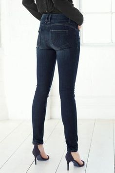 Indigo Premium Skinny Jeans from Next... Love the boots too ...
