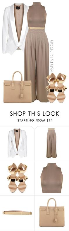 """Untitled #2239"" by stylebydnicole ❤ liked on Polyvore featuring SLY 010, Giuseppe Zanotti, WearAll, MICHAEL Michael Kors and Yves Saint Laurent"